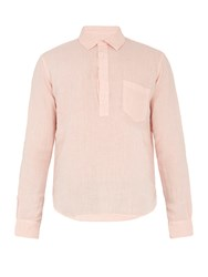 Solid And Striped The Popover Linen Shirt Pink