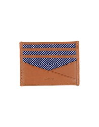 Mismo Small Leather Goods Document Holders Men Dark Blue