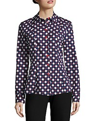 Carven Printed Button Up Blouse Multi