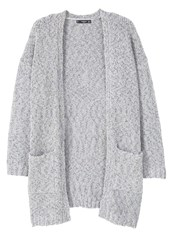 Mango Stone Cardigan Light Heather Grey Light Grey
