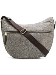 Borbonese Printed Shoulder Bag Nude And Neutrals