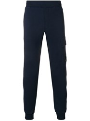 C.P. Company Cp Logo Patch Joggers Blue