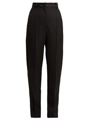 Joseph Electra High Rise Wool Grain De Poudre Trousers Black