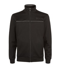 Hugo Boss Green Cotton Zip Up Jacket Male Black