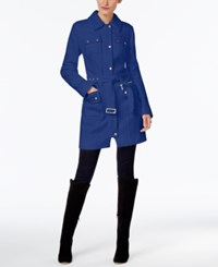 Inc International Concepts Belted Walker Coat Only At Macy's Goddess Blue