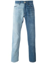 Lanvin Two Tone Dyed Jeans Blue