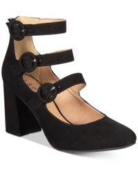 Esprit Lucy Block Heel Detailed Dress Pumps Black
