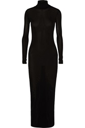 Rosetta Getty Jersey Turtleneck Maxi Dress