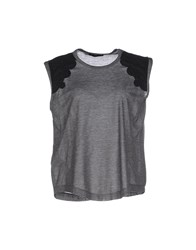 Pinko Black Topwear T Shirts Women Grey