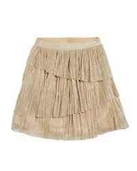 Mayoral Sequined Mini Skirt Champagne