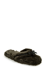 Bedroom Athletics 'Erica' Spa Slipper Women Charcoal