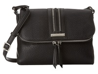 Nine West Track Tion Action Medium Crossbody Black Black Cross Body Handbags