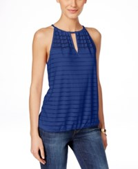 Inc International Concepts Illusion Striped Halter Top Only At Macy's Goddess Blue