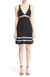 Women's Herve Leger Cutout V Neck Bandage Dress