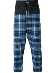 Vivienne Westwood Anglomania Plaid Cropped Trousers Blue