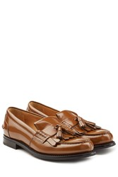 Churchs Leather Loafers With Tassels Brown