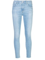 Agolde Mid Rise Skinny Jeans Blue