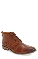 Steve Madden Men's 'Jabbar' Cap Toe Boot Dark Tan Leather