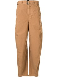 Christophe Lemaire Wide Leg Belted Trousers 60