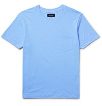 Howlin' Space Echo Slub Cotton And Linen Blend Jersey T Shirt Light Blue