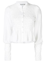 Alexis Capizzi Embroidered Top White