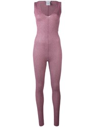 Melampo Lurex Jumpsuit Women Nylon Polyester 40 Pink Purple