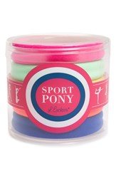 L. Erickson Sport Ponytail Holders Pink Set Of 5 Neon