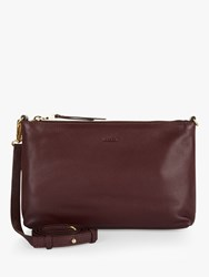 Jaeger Jennifer Cross Body Leather Bag Burgundy