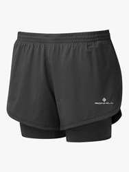 Ronhill Stride Twin Shorts Grey