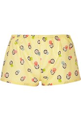 Eres Lhd Printed Cotton Shorts Pastel Yellow