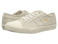 Gola Coaster Linen Oatmeal Off White Men's Shoes Beige