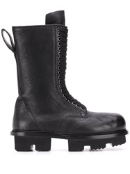 Rick Owens Chunky Track Sole Laced Boots 60