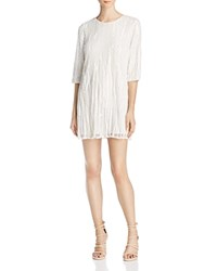 Parker Petra Beaded Silk Dress Ivory
