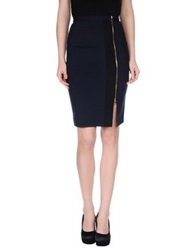 French Connection Knee Length Skirts Dark Blue