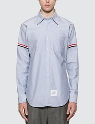 Thom Browne Classic Oxford Shirt With Stripe Blue