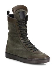 Giuseppe Zanotti X Zayn Jaavad High Shaft Leather Blend Boots Brown