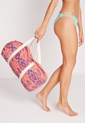 Missguided Aztec Print Sport Bag Multi Multi