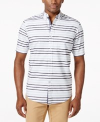 Club Room Big And Tall Hamilton Stripe Shirt Only At Macy's
