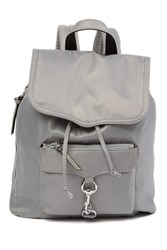 Rebecca Minkoff Bikeshare Nylon Backpack Pearl Grey