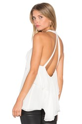 Ramy Brook Beatrice Halter Tank White