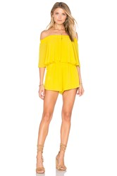 Show Me Your Mumu Rosarita Romper Yellow