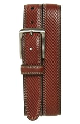 Men's Johnston And Murphy Textured Leather Belt