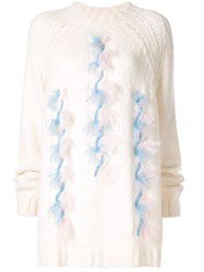 Delpozo Chunky Knit Jumper White