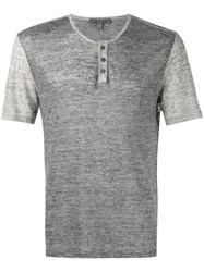 John Varvatos Button Up T Shirt Grey