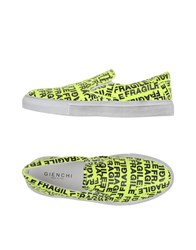 Gienchi Footwear Low Tops And Trainers Men Acid Green