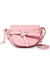Loewe Gate Mini Textured Leather Shoulder Bag Pink