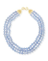 Splendid Company Beaded Lavender Blue Chalcedony Necklace