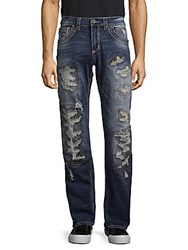 Affliction Distressed Washed Jeans Blue