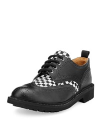 Givenchy Checkerboard Commando Derby Shoe Black White Black White