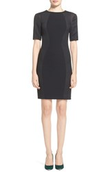 Women's Ted Baker London 'Abrial' Mesh Panel Body Con Dress Black